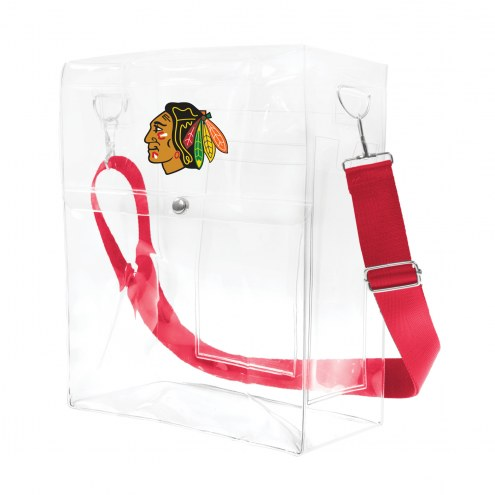 Chicago Blackhawks Clear Ticket Satchel