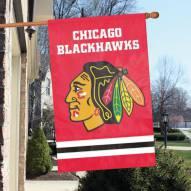 Chicago Blackhawks Applique Banner Flag