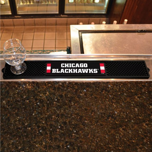 Chicago Blackhawks Bar Mat