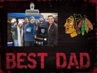Chicago Blackhawks Best Dad Clip Frame