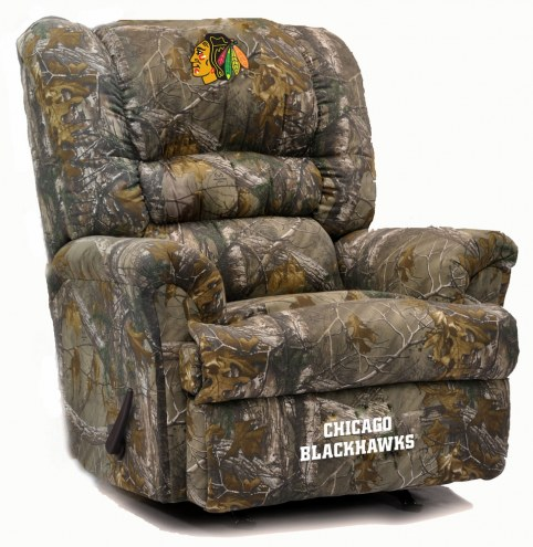 Chicago Blackhawks Big Daddy Camo Recliner