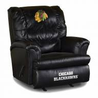 Chicago Blackhawks Big Daddy Leather Recliner