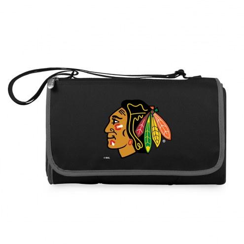 Chicago Blackhawks Black Blanket Tote