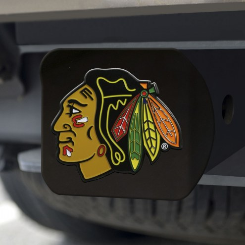 Chicago Blackhawks Black Color Hitch Cover