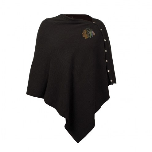 Chicago Blackhawks Black Out Button Poncho