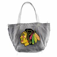Chicago Blackhawks Black Vintage Tote Bag