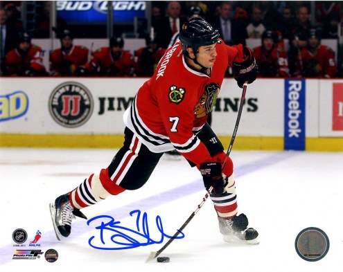 Chicago Blackhawks Brent Seabrook Signed 8 x 10 Action Photo