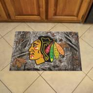 Chicago Blackhawks Camo Scraper Door Mat