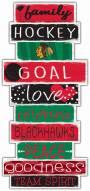 Chicago Blackhawks Celebrations Stack Sign