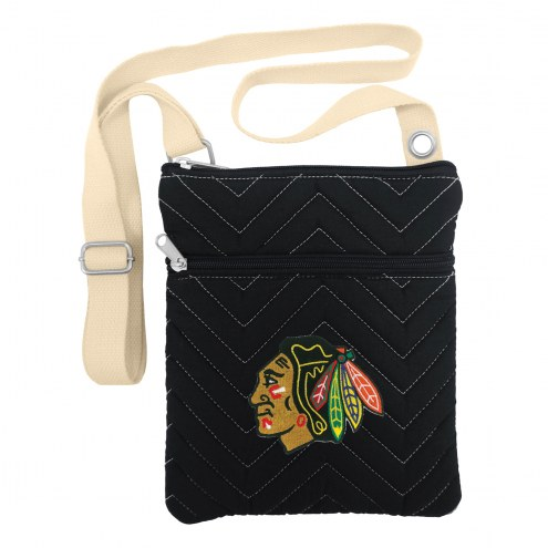 Chicago Blackhawks Chevron Stitch Crossbody Bag