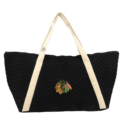Chicago Blackhawks Chevron Stitch Weekender Bag