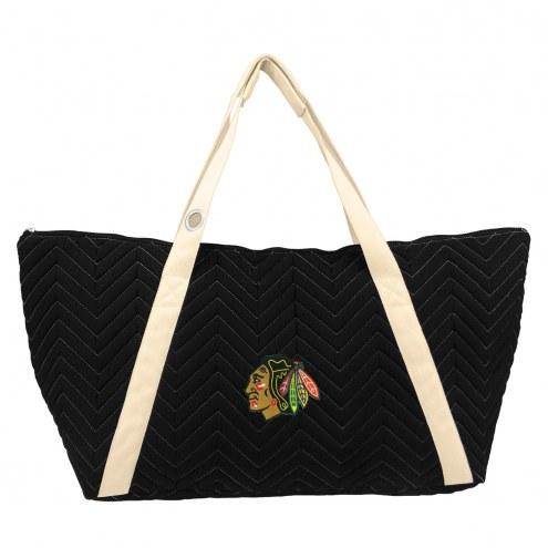 Chicago Blackhawks Chevron Stitch Weekender Bag