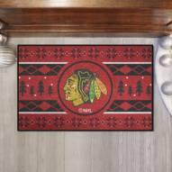 Chicago Blackhawks Christmas Sweater Starter Rug