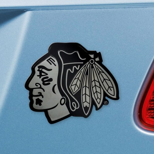 Chicago Blackhawks Chrome Metal Car Emblem