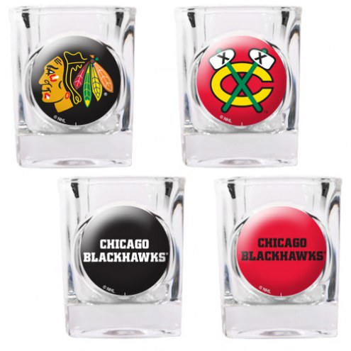 Chicago Blackhawks Collector's Shot Glass Set