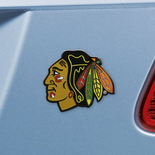Chicago Blackhawks Color Car Emblem