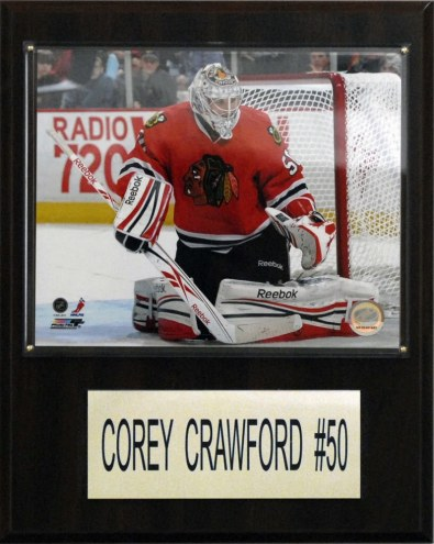 "Chicago Blackhawks Corey Crawford 12"" x 15"" Player Plaque"
