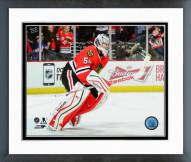 Chicago Blackhawks Corey Crawford Action Framed Photo