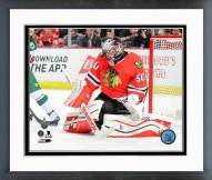 Chicago Blackhawks Corey Crawford Playoff Action Framed Photo