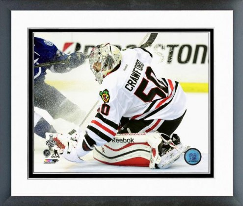 Chicago Blackhawks Corey Crawford Game 5 Stanley Cup Finals Framed Photo