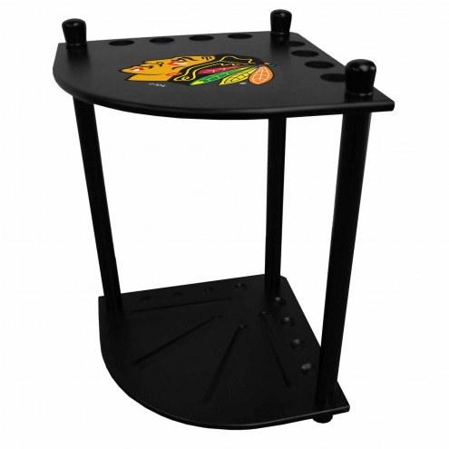 Chicago Blackhawks Corner Pool Cue Rack