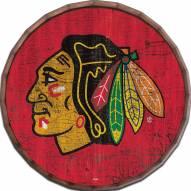 "Chicago Blackhawks Cracked Color 24"" Barrel Top"