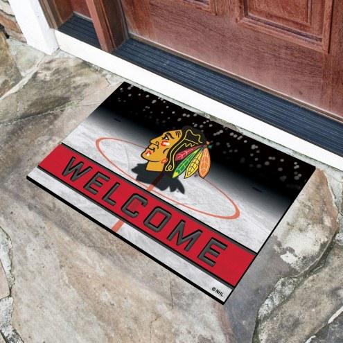 Chicago Blackhawks Crumb Rubber Door Mat