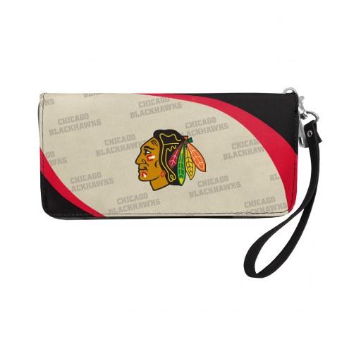 Chicago Blackhawks Curve Zip Organizer Wallet