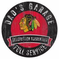Chicago Blackhawks Dad's Garage Sign
