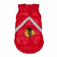 Chicago Blackhawks Dog Puffer Vest