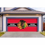 Chicago Blackhawks Double Garage Door Cover