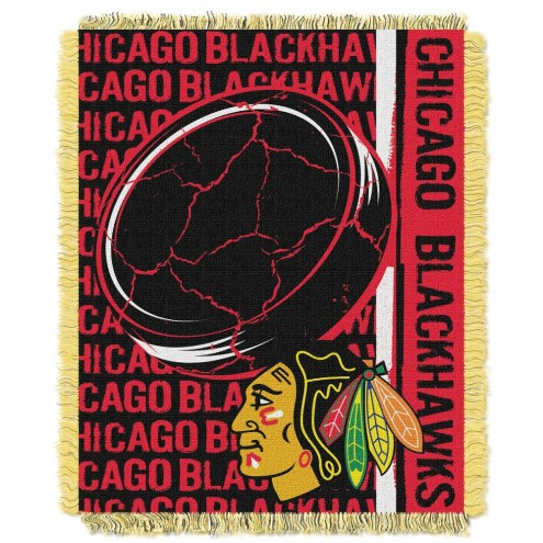 Chicago Blackhawks Double Play Woven Throw Blanket