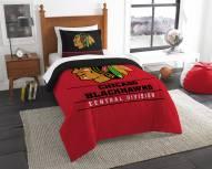 Chicago Blackhawks Draft Twin Comforter Set