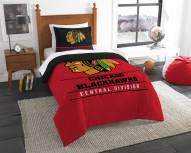 Chicago Blackhawks Draft Twin Comforter Set