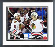 Chicago Blackhawks Duncan Keith & Teuvo Teravainen Framed Photo