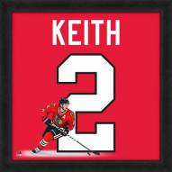 Chicago Blackhawks Duncan Keith Uniframe Framed Jersey Photo