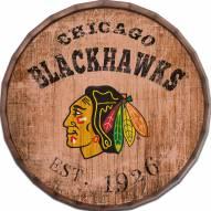 """Chicago Blackhawks Established Date 24"""" Barrel Top"""