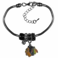 Chicago Blackhawks Euro Bead Bracelet
