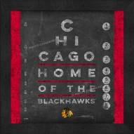 Chicago Blackhawks Eye Chart