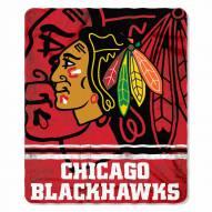 Chicago Blackhawks Fade Away Fleece Blanket