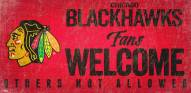 Chicago Blackhawks Fans Welcome Sign