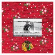 "Chicago Blackhawks Floral 10"" x 10"" Picture Frame"