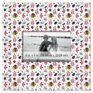 """Chicago Blackhawks Floral Pattern 10"""" x 10"""" Picture Frame"""