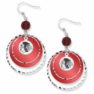 Chicago Blackhawks Game Day Earrings