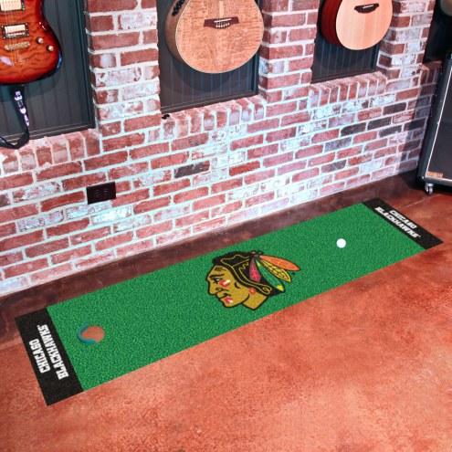 Chicago Blackhawks Golf Putting Green Mat