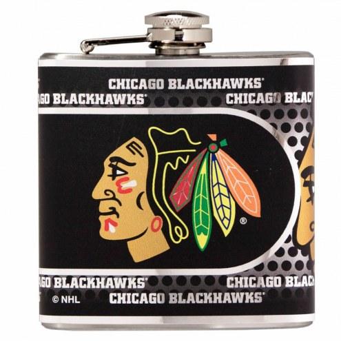 Chicago Blackhawks Hi-Def Stainless Steel Flask