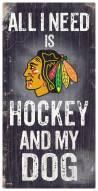 Chicago Blackhawks Hockey & My Dog Sign