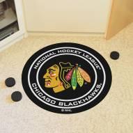Chicago Blackhawks Hockey Puck Mat
