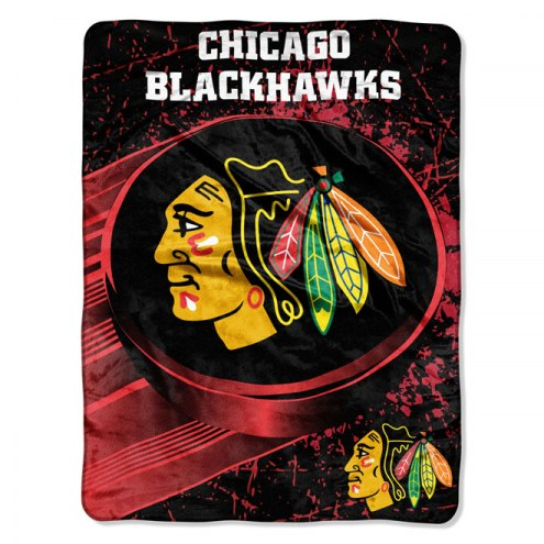 Chicago Blackhawks Ice Dash Blanket