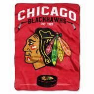 Chicago Blackhawks Inspired Plush Raschel Blanket